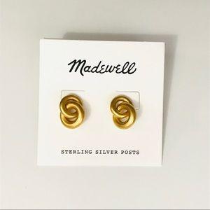 Madewell Double Link Hoop Earrings NWT